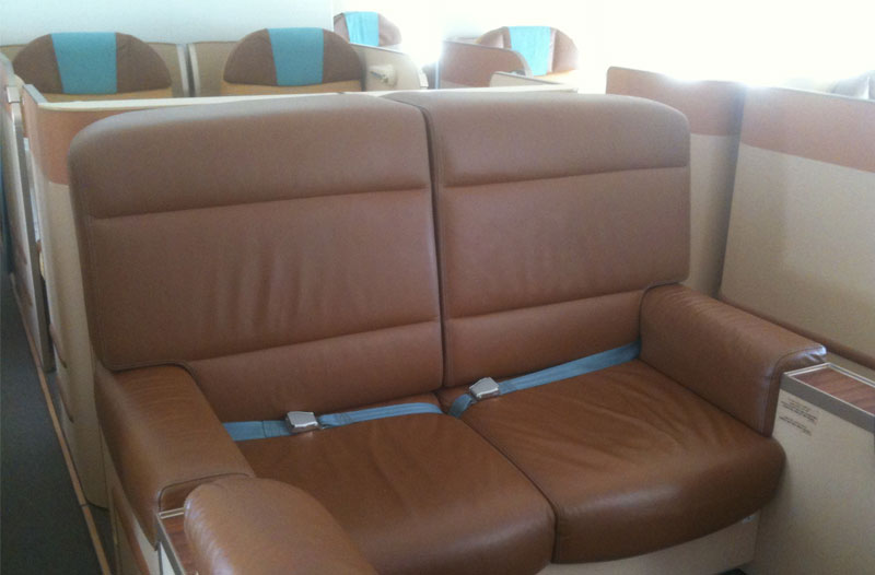 Oman Air First Class im A330 - Loungebereich